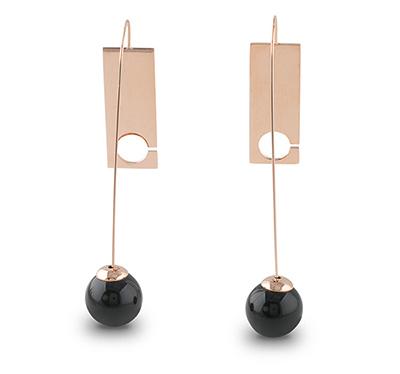 Steel earrings sample