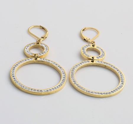 Steel earring sample