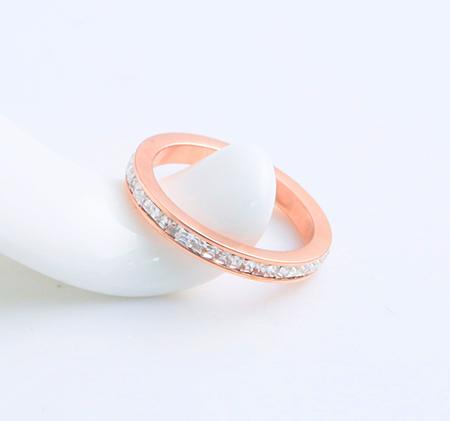 Rose gold fashion titanium steel ring