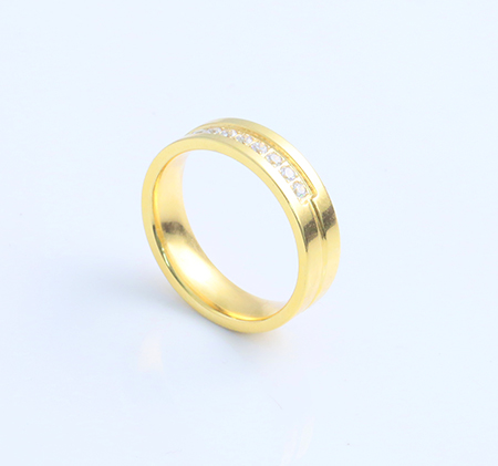 Trend 18k gold stainless steel ring