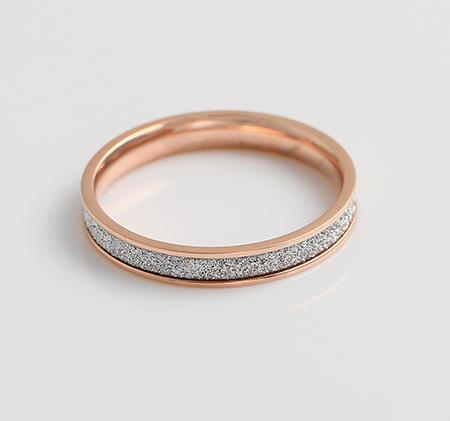 Rose gold matte ring