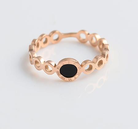 Black inlaid Roman ring