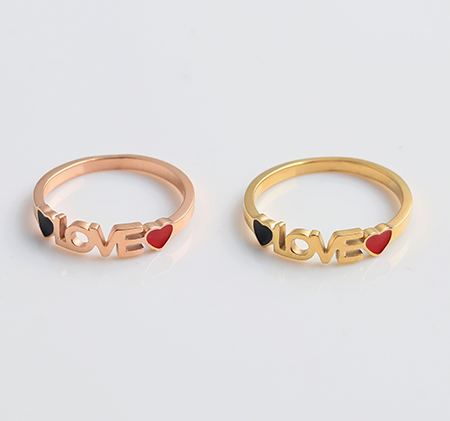 New style LOVE love ring
