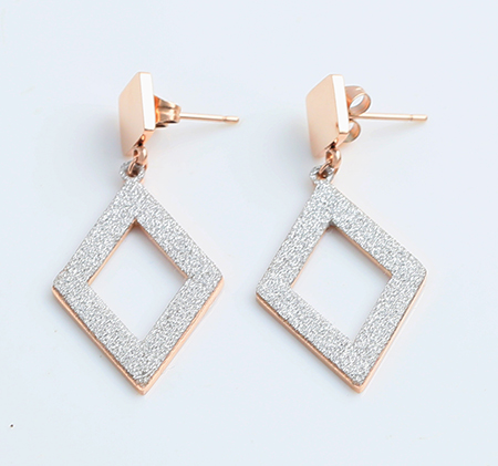 Openwork Scrub Diamond Stud Earrings