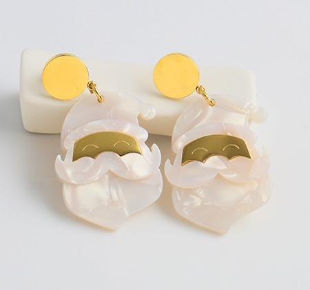 Santa Claus Acrylic Earrings