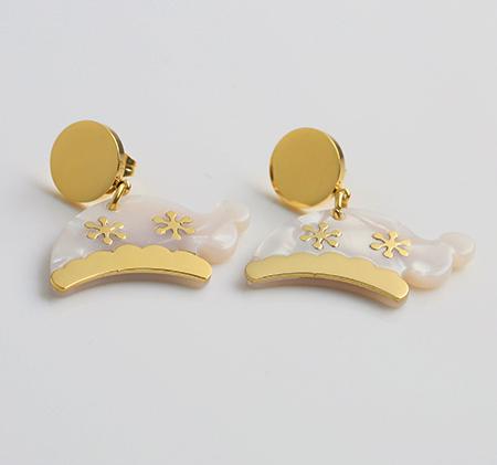 Christmas hat acrylic earrings