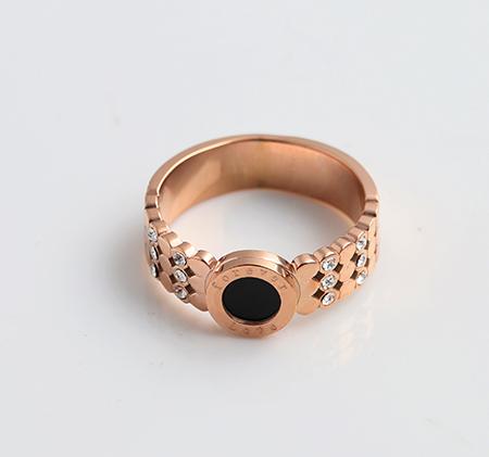 Diamond inlay ring