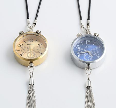 Car perfume bottle clock pendant
