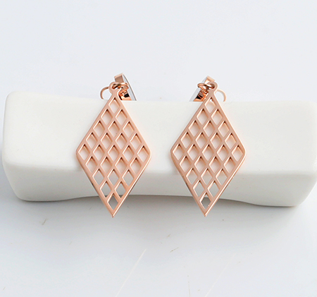 Fashion hollow stainless steel earrings