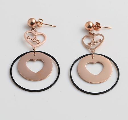 Fashion stainless steel heart earrings