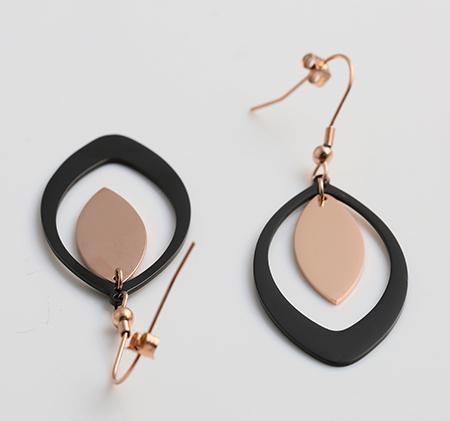 Geometric stainless steel fashion earrings