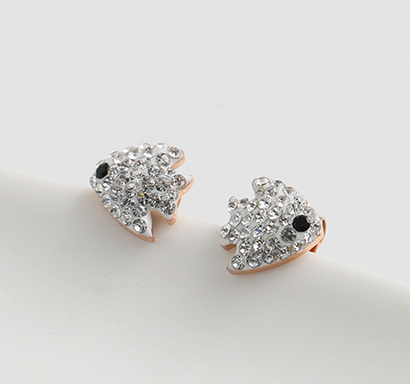 Small fish shape stainless steel earrings