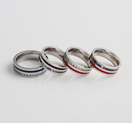 Coil-studded titanium steel ring