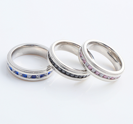 Women's fashion diamond-studded titanium steel ring