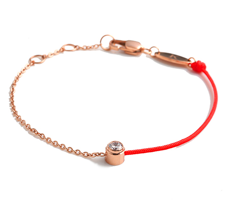 Single drill red rope bracelet
