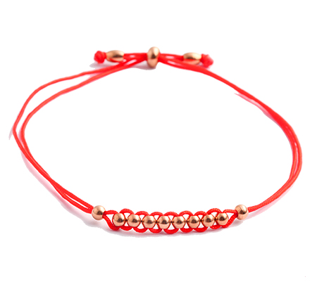 Braided Red Rope Bracelet