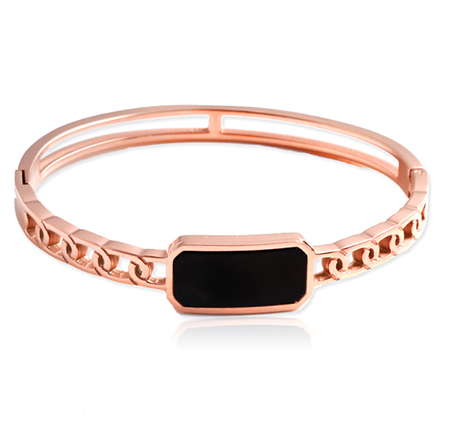 Black Diamond Chain Buckle Bracelet