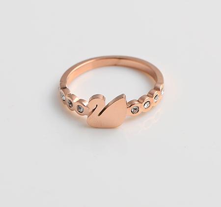 Swan diamond ring